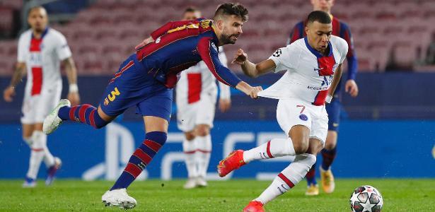 PSG goleia Barcelona com três de Mbappé na Champions - Foto: Reprodução