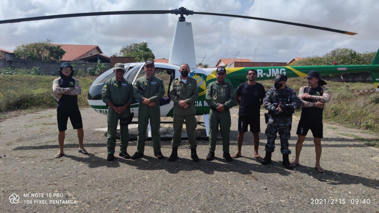 Ações de policiamento ostensivo aéreo, realizado pelo BTAP