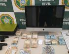 Polícia apreende duas pistolas, dinheiro e computador na casa de Belo