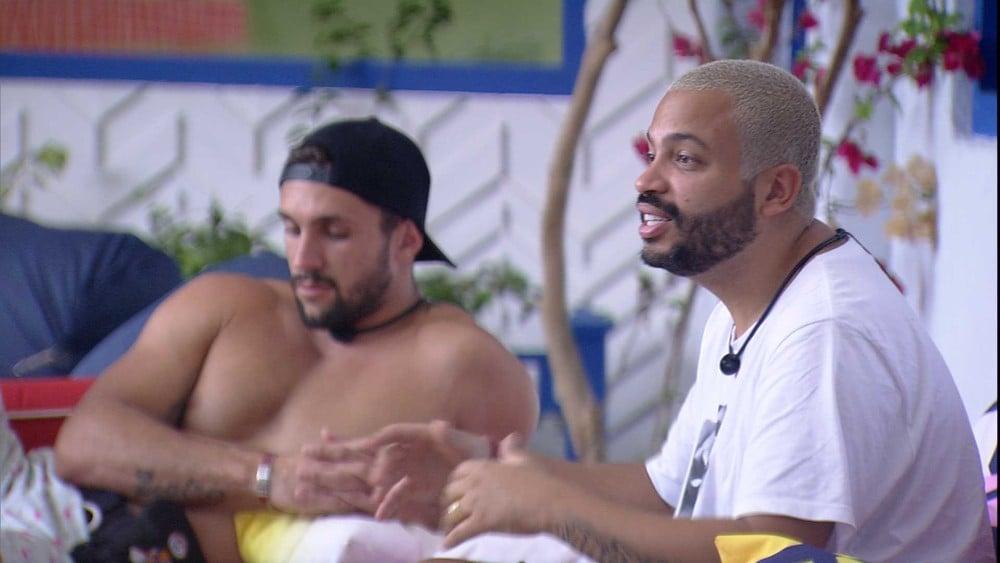 "BBB21: Projota lamenta a saída de Nego Di: ""Injustiça muito grande"" — Foto: Globo"