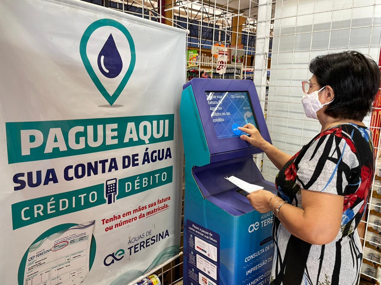 THE: Faturas de água e esgoto podem ser pagas com cartão em totens - Imagem 1