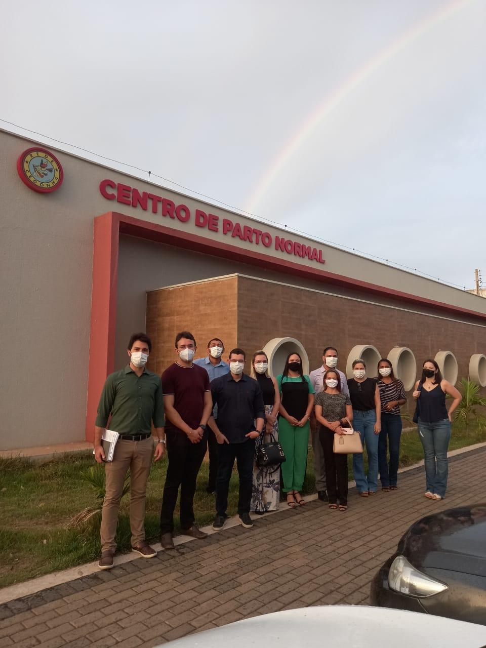 Equipe da Fepiserh durante visita técnica no Centro de Parto Normal, em Picos