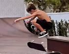 Filho de 8 anos de Luana e Scooby impressiona com o talento no skate