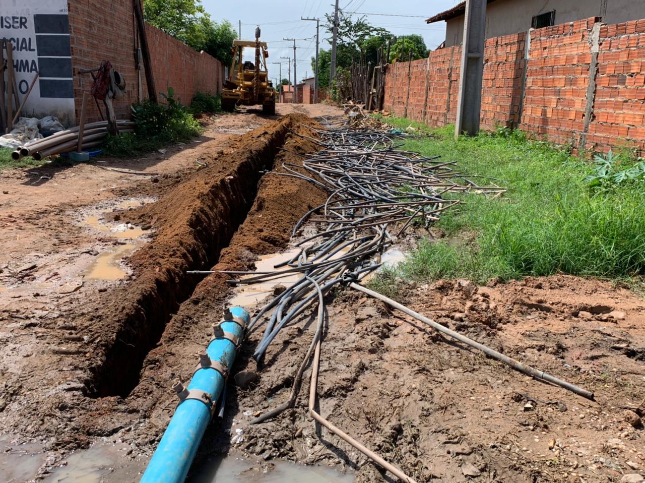 Águas de Timon realizou a retirada de mais de dois quilômetros de ligações clandestinas no bairro Júlia Almeida