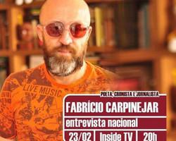A poesia de Fabrício Carpinejar, o poeta que virou viral, no Inside TV desta terça, 23