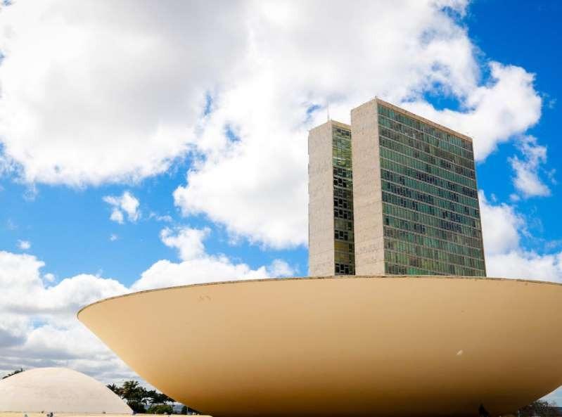Fachada da Câmara dos Deputados, em Brasília
