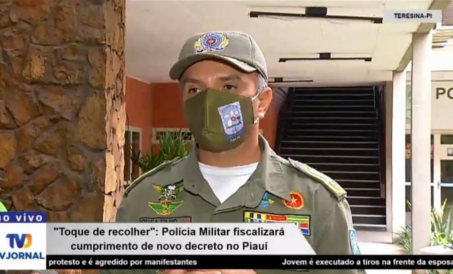 """""""Responder perante a Justiça"""", diz coronel sobre quem descumprir toque de recolher no Piauí - Imagem 1"""