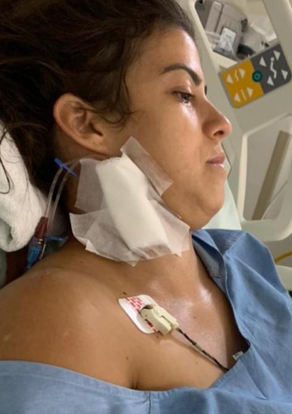 Pryscili Andrade, de 32 anos, está internada na UTI
