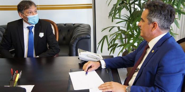 Marcelo Costa se reúne com Ciro Nogueira que garante a pavimentação da Avenida XV de Novembro