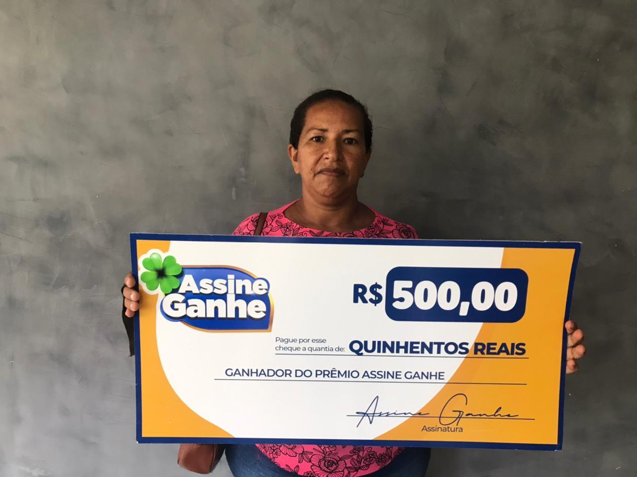 Vaneusa Batista, foi a 145º contemplada no Assine Ganhe