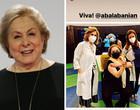 Aos 81 anos, Aracy Balabanian é vacinada contra a Covid-19