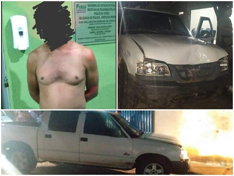 Motorista bêbado é preso após causar acidente e deixar 4 feridos no PI - Imagem 1
