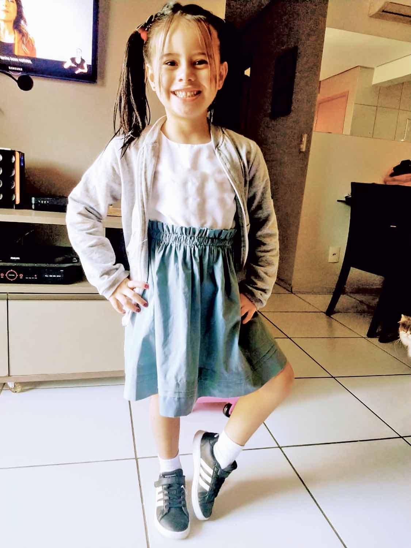 Júlia Farias, de apenas 5 anos, voltou essa semana às aulas presenciais | FOTO: Arquivo pessoal