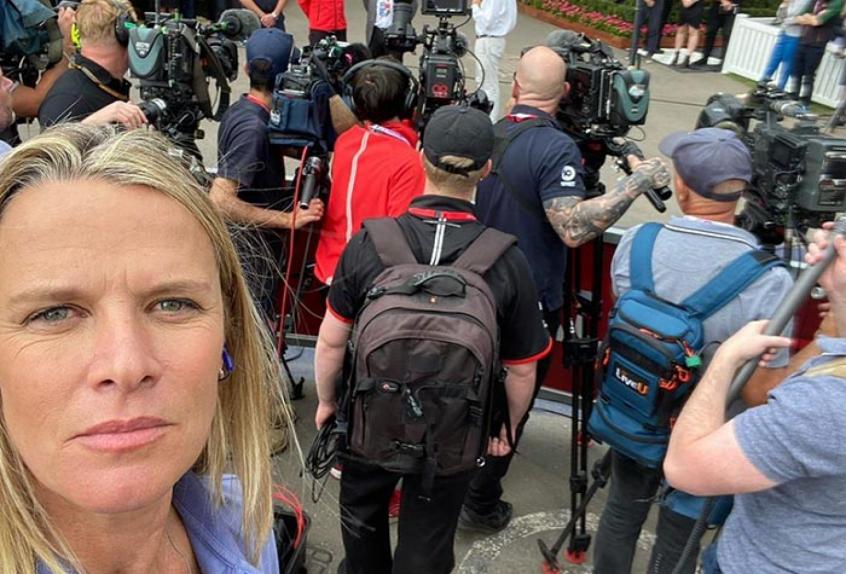 A repórter Mariana Becker que incrementa a voz feminina na Fórmula 1 foi demitida da Globo-Foto: Reprodução/Instagram