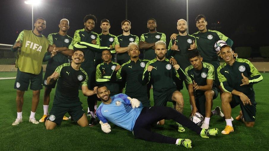Palmeiras treinou ontem à noite para a final- Foto: Cesar Greco