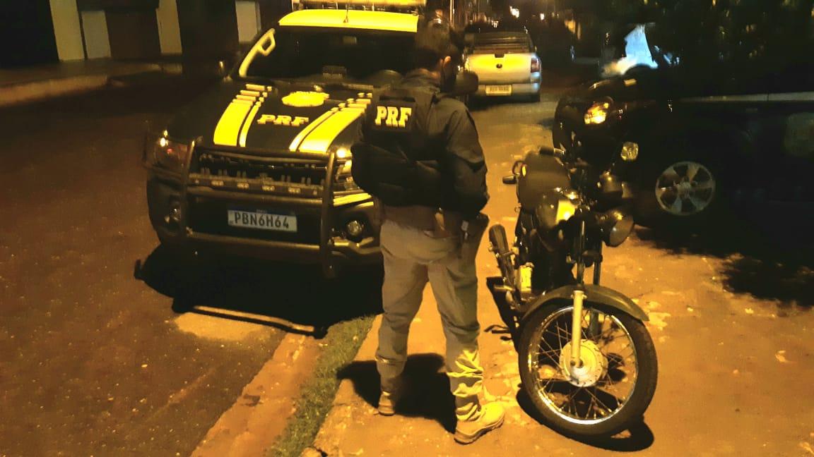 PRF apreende na BR-020 motocicleta com indícios de adulteração- Foto: PRF