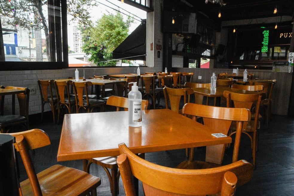 Bar na Vila Madalena, zona Oeste de São Paulo (Foto: G1)