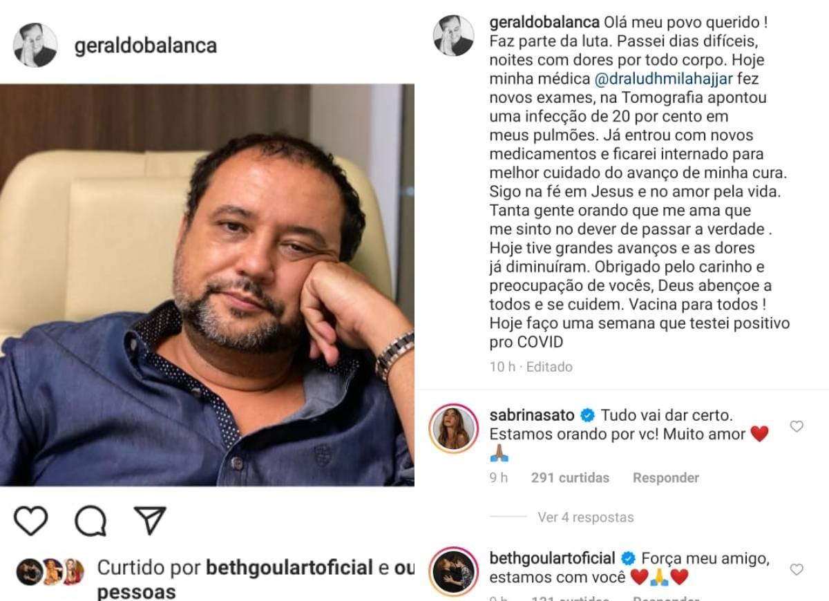Apresentador recebeu apoio nas redes sociais - Foto: Instagram