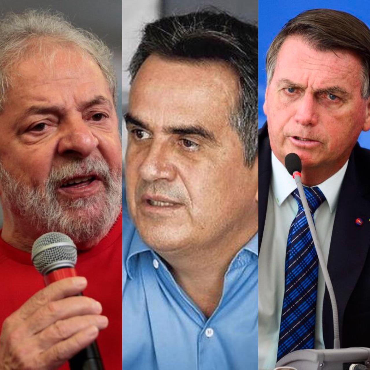 Lula, Ciro Nogueira e Bolsonaro