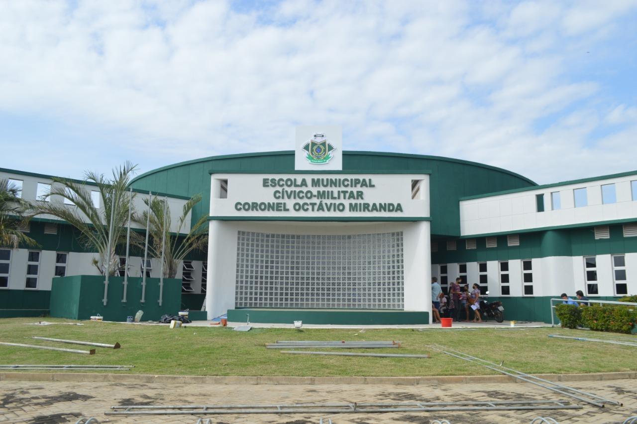 Escola cívico-Militar Cel-octávio Miranda será inaugurada amanhã 13 De março - Imagem 1