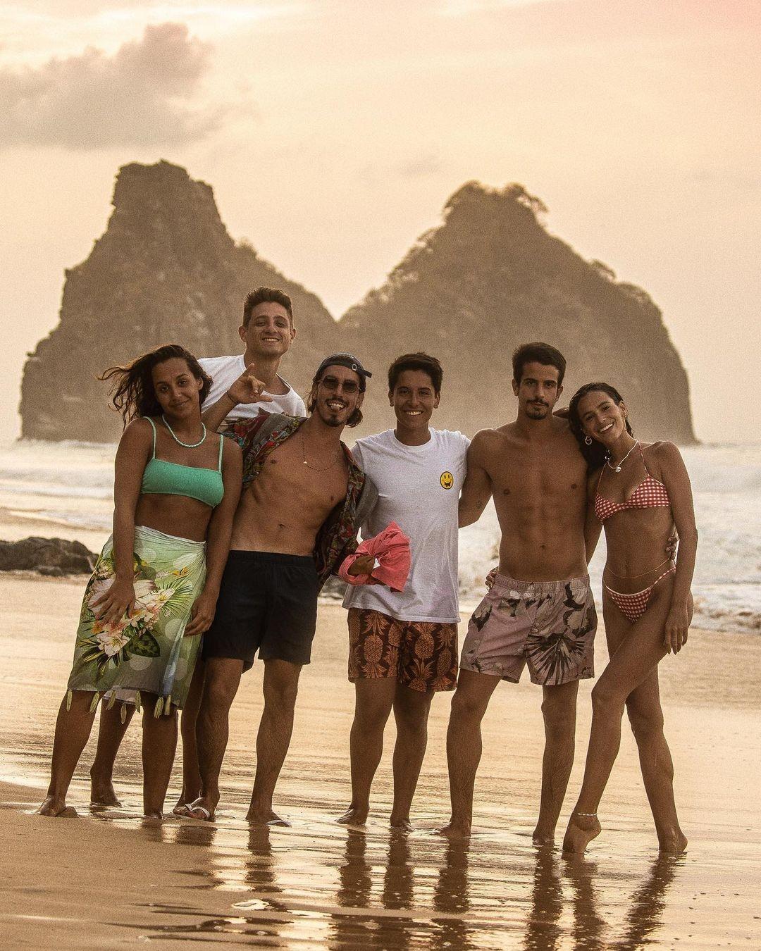 Grupo viajou juntos para Noronha