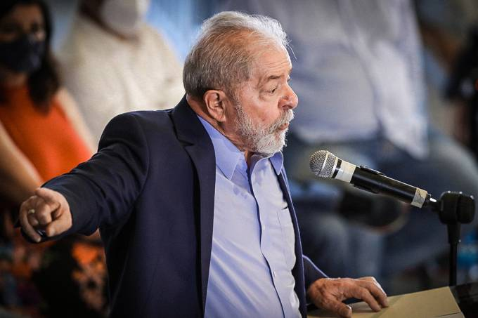 Lula em discurso nesta quarta-feira (Amanda Perobelli/Reuters)
