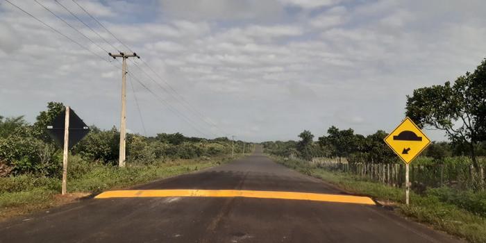MOBILIDADE URBANA: Prefeitura de Coivaras consegue junto ao DNIT a construção de quebra-molas
