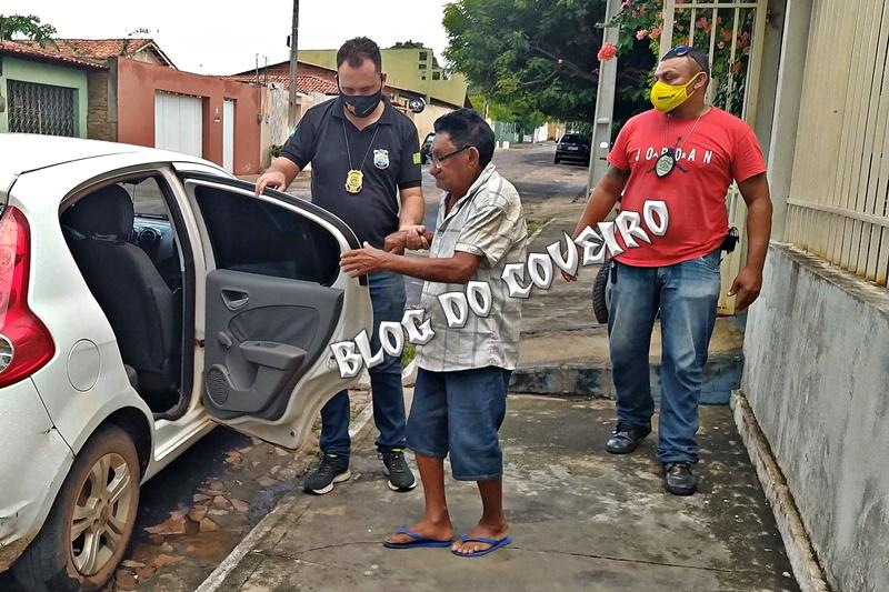 Idoso é preso por crime de estupro de vulnerável em Cocal do PI-Foto: Blog do Coveiro