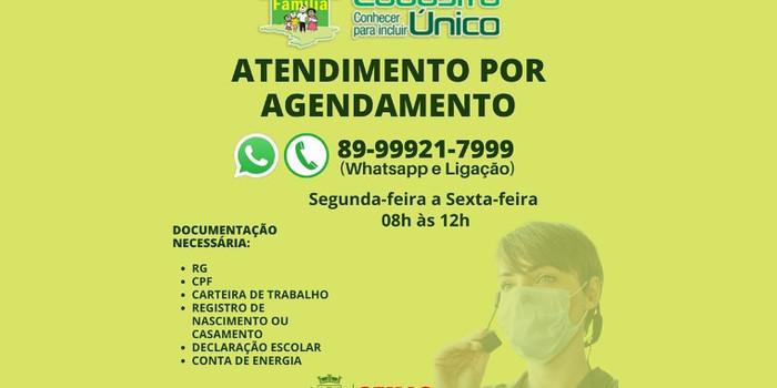 Assistência Social de Valença divulga telefone para agendar atendimento