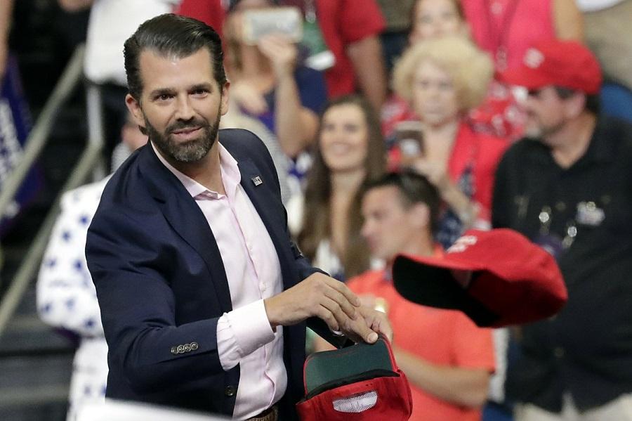 O filho do ex-presidente Donald Trump durante campanha eleitoral nos EUA-Foto: AP