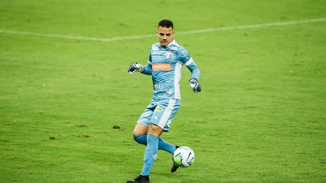 Felipe Alves, goleiro do Fortaleza — Foto: Thiago Gadelha/SVM