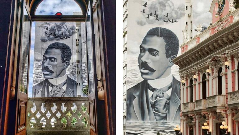Mural em homenagem a Cruz e Sousa (Fundação Catarinense de Cultura)