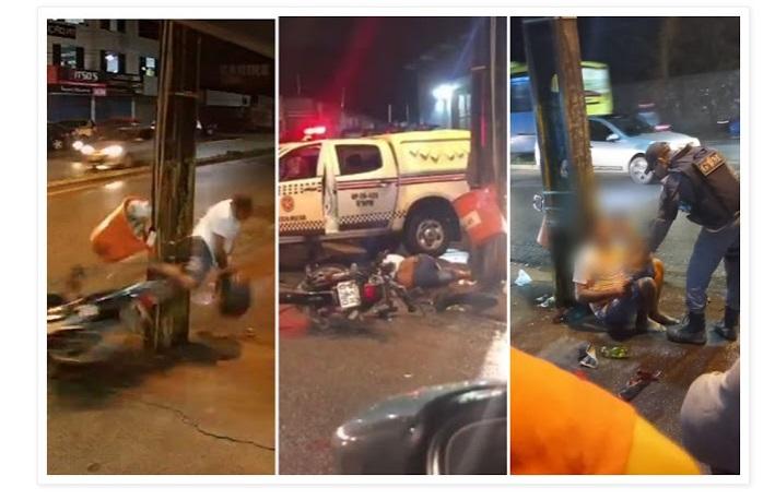Suspeito de assalto colide contra poste em perseguição policial no MA - Imagem 1