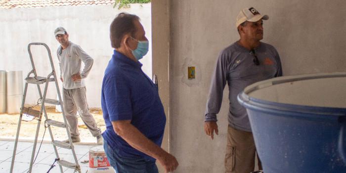 Prefeito de Uruçuí Wagner Coelho visita obras na zona rural