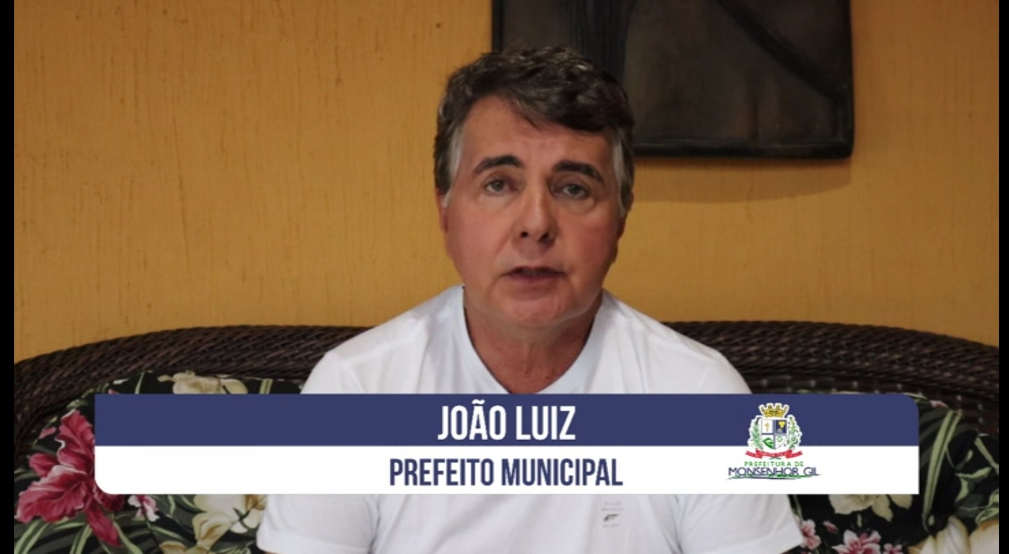 Covid-19 - Prefeito João Luiz grava mensagem e faz apelo e um alerta para população - Imagem 1