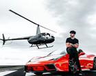 Caio Castro transforma sua Ferrari de R$ 1,4 mi e posa com helicóptero