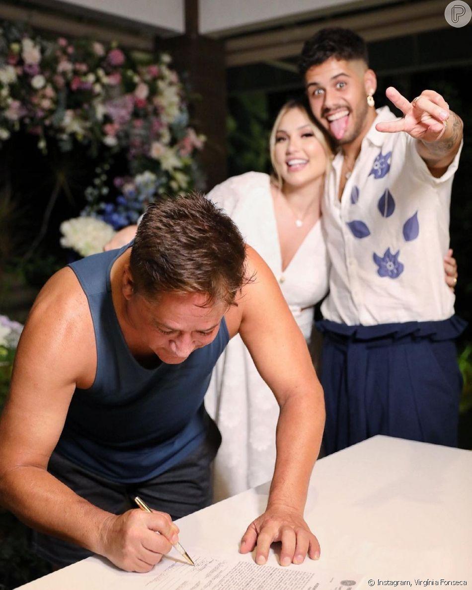 Leonardo marcou presença na cerimônia (Foto: instagram)