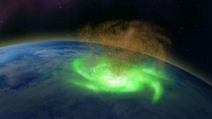 Furacão espacial de agosto de 2014 (Foto: reprodução)