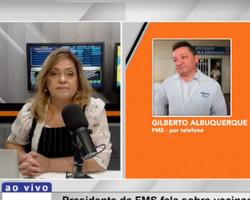 """""""Teresina amanhece com 92% de ocupação em UTIs"""", diz médico Gilberto Albuquerque"""
