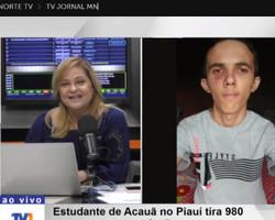 Estudando pelo WhatsApp, aluno de Acauã, no Piauí faz 980 na redação do Enem