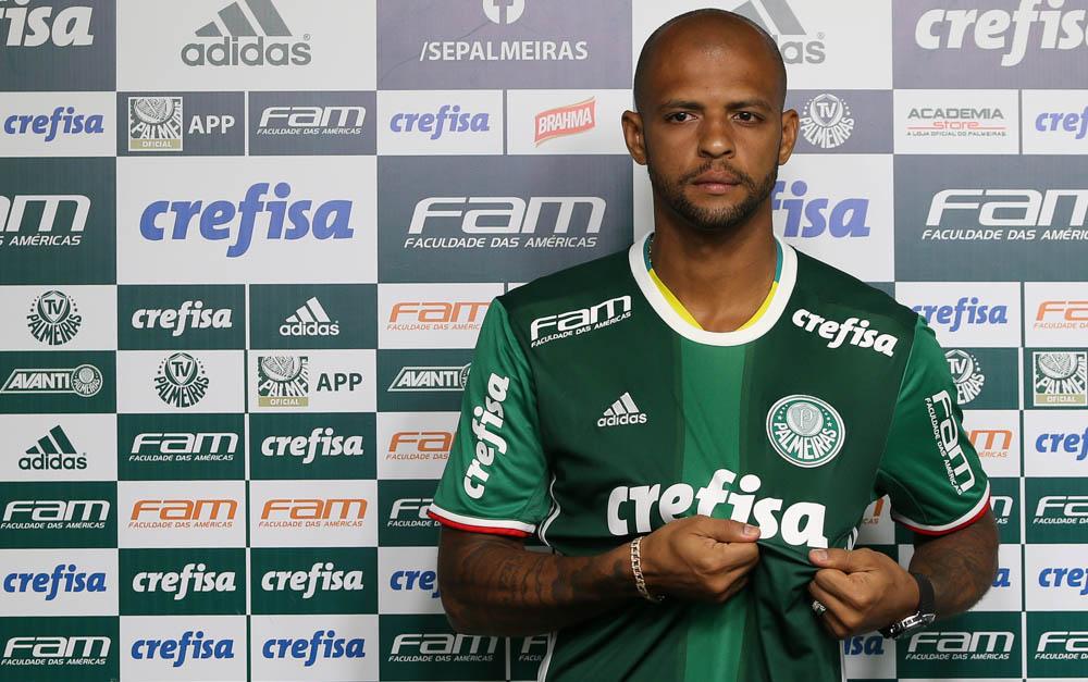 Felipe Melo, volante do Palmeiras — Foto: Cesar Greco / Ag. Palmeiras