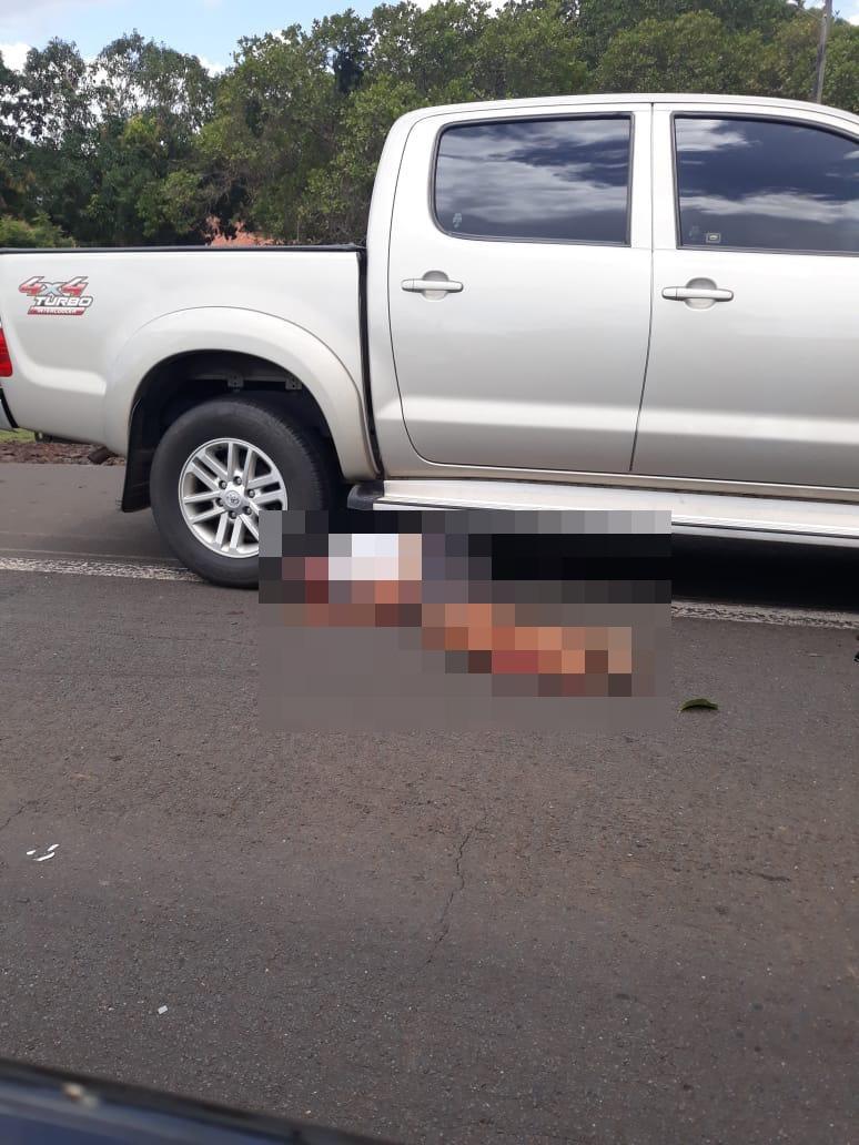 Motociclista não teria dado sinal que ia fazer conversão antes de acidente - Foto: Reprodução