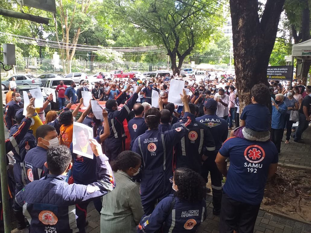 Manifestação dos enfermeiros em Teresina - Foto: Reprodução