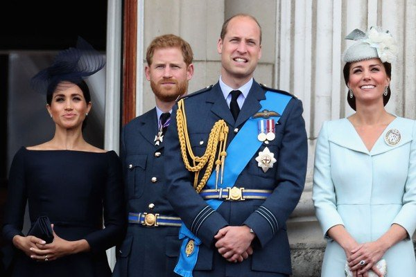 Meghan Markle, Príncipe Harry, Príncipe William, e Kate Middleton (Foto: Getty Images)