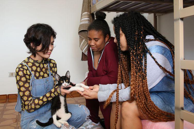 Lauana, Adriana e Jessica buscam autonomia, dividem serviços domésticas e gerenciam despesas - Rovena Rosa/Agência Brasil