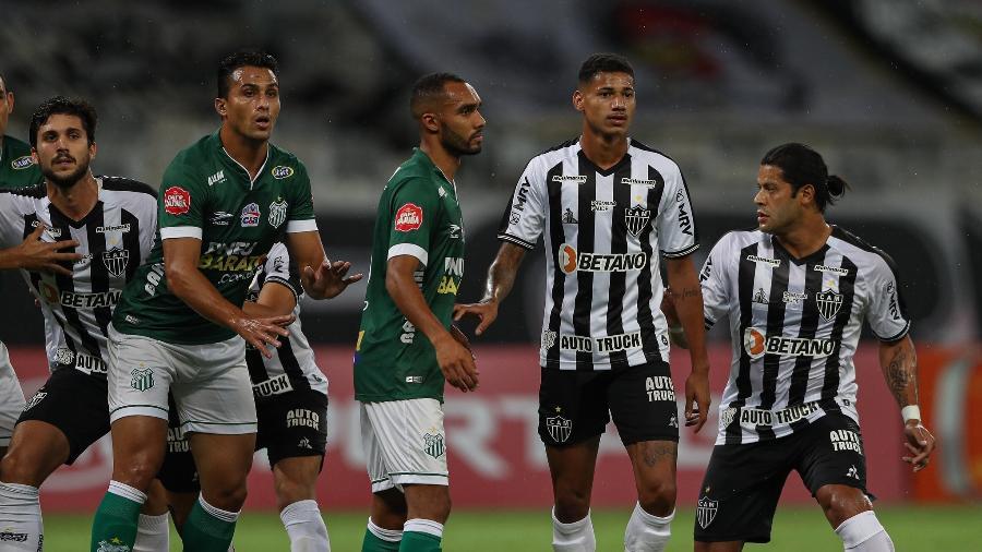 Hulk em sua estreia pelo Atlético-MG, em jogo contra o Uberlândia pelo Mineiro 2021/Imagem: Pedro Souza / Atlético