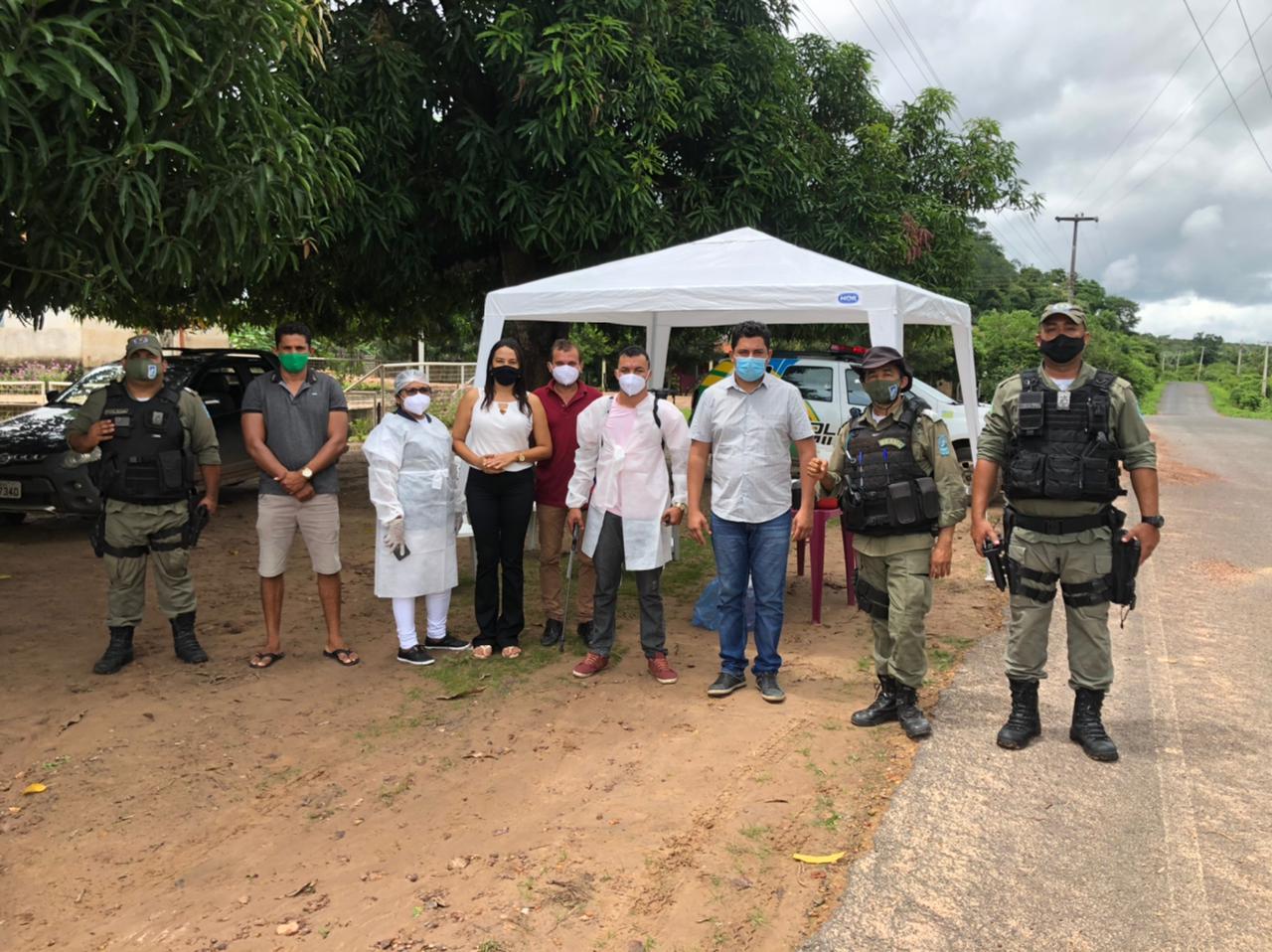 A implantação das barreiras é uma ação da Secretaria de Saúde, Vigilância Sanitária e com apoio da Polícia Militar - Foto: Divulgação