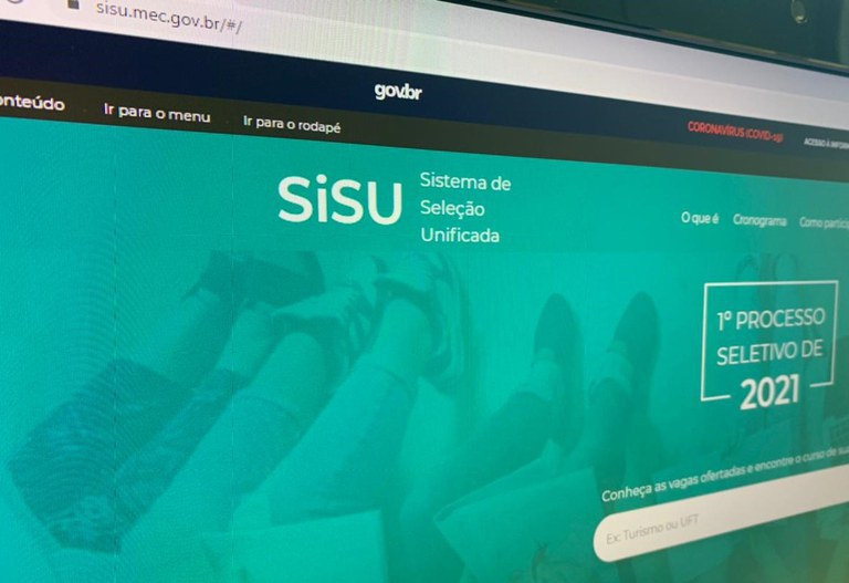 Inscrições para o Sisu podem ser feitas até dia 14 de abril | FOTO: Reprodução