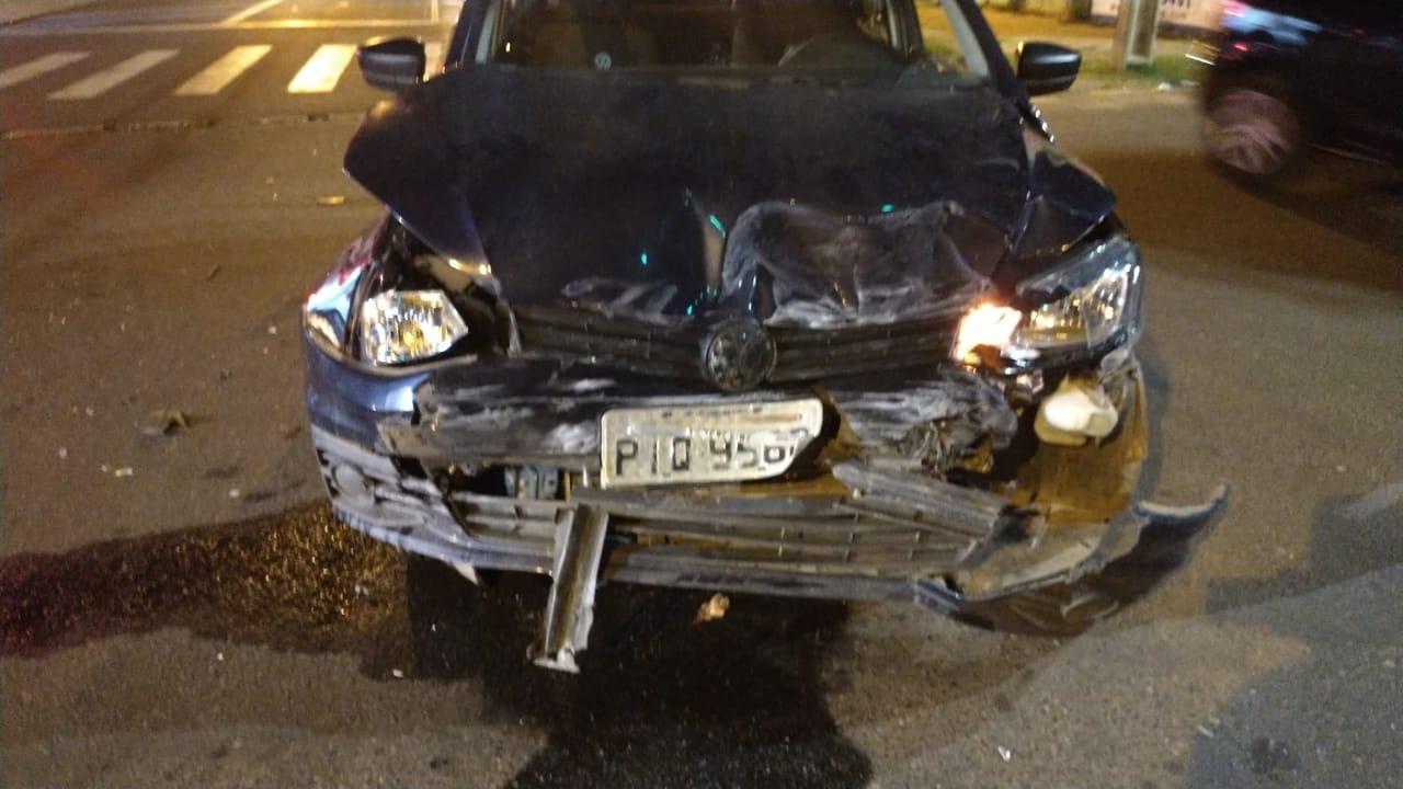 Veículo modelo Gol ficou com a parte dianteira completamente destruída - Foto: Portal Meio Norte