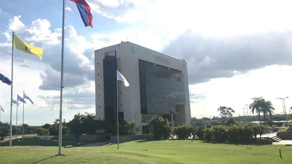 Sede da Conmebol no Paraguai — Foto: Martín Fernandez